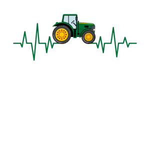 Traktor Herzschlag Trecker Bauer Landwirt Bauernho