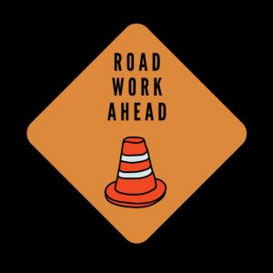 Straßenarbeit voran