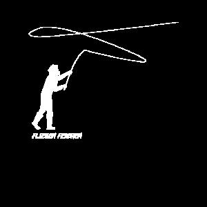 Fliegenfischen mit Angelrute und Fliege | Fischer