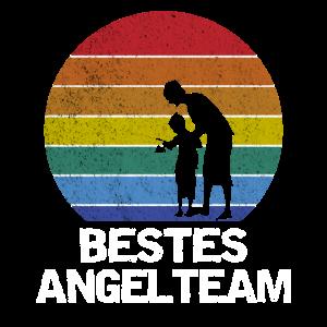 Bestes Angel Team für Angler Papa und Sohn T-Shirt