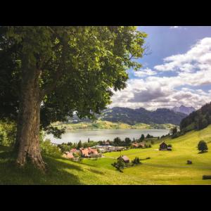 Schöne Szene in der Schweiz