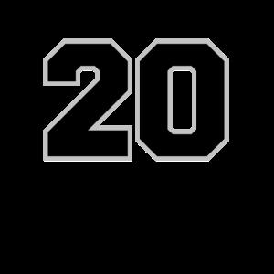 Startnummer 20 Spielernummer Rückennummer Zwanzig