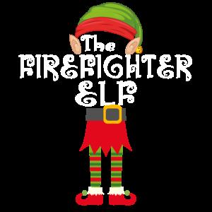 Feuerwehrmann Elf Weihnachten Familie Matching