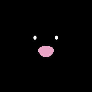 Süßes Kawaii Hasengesicht mit rosa Nase