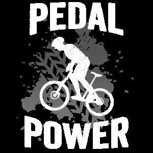 Pedal Power Mountainbiker Fahrradfahrer Geschenk