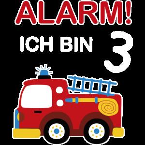 Feuerwehrauto Feuerwehr Geburtstag 3 Jahre Jungen