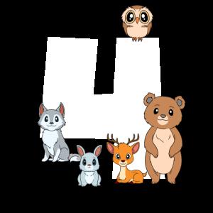 Süße Waldtiere Kindergeburtstag - 4 Geburtstag