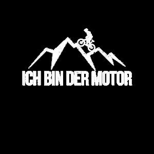 Ich Bin Der Motor Biker Mountainbike Geschenk Fahr