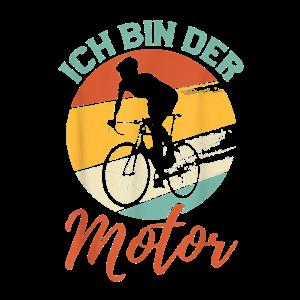 Ich bin der Motor Lustig Fahrrad Mountainbike Spr