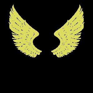 Flügel Federn Illustration Geschenkidee