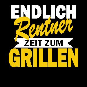 Endlich Rentner Grillen Rente Geschenk Ruhestand