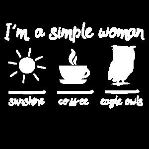 Uhu Eule - Im a simple woman I love eagle owls