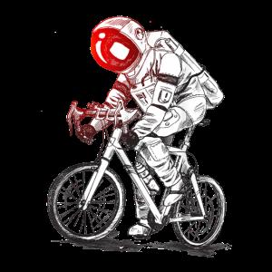 Astronaut Rides a Bike Space Exploration Astronaut