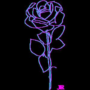 Vaporwave Aesthetic Rose für Frauen Männer Kinder