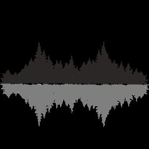 Spiegelbild Wald