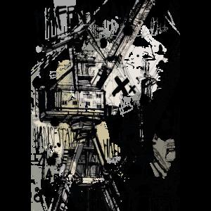 Hafenkran Collage
