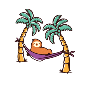 Faultier Urlaub Palmen Meer Palme Sonne Geschenk