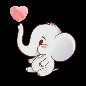 Baby Elefant Herz Rüssel Klein süß