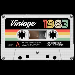 Vintage Kassette 1983 Retro Classic Geburtstag