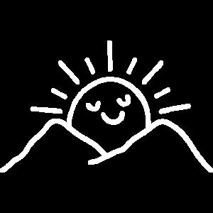 Sonnenaufgang Berge Bergwandern lustige Sonne