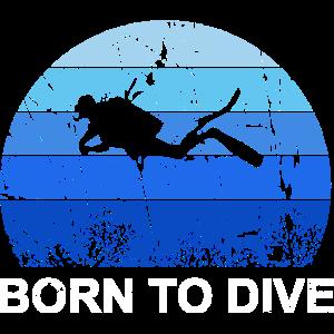 Born to Dive Taucher Tauchen Tauchurlaub Geschenk