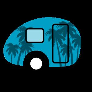 Caravan Palmen Camping Urlaub Camper Camping Beach