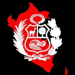 Peru Shirt, peruanisches Wappen T-Shirt, Escudo,