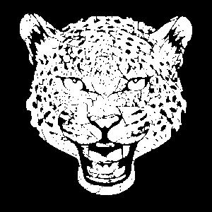 Leopard Leopard Blumenmuster