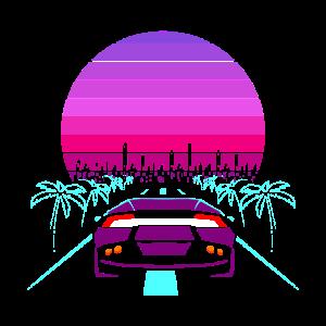 Retro Wave Sport Auto 80s Geschenk