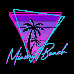 Retro Miami Beach Vintage 80s Beach Geschenk