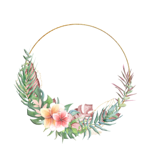 Tropical Kranz Blumen personalisierbar