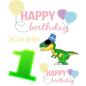 1. Geburtstag Dinosaurier Geschenk
