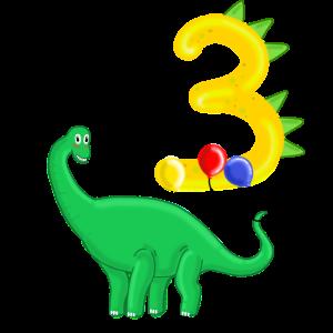 Dino Geburtstagsgeschenk 3 Jahre Dinosaurier