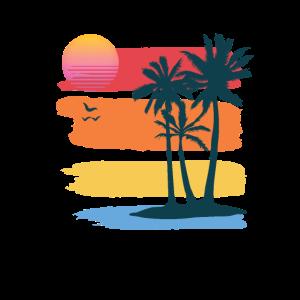 Sunset Tropical Palms