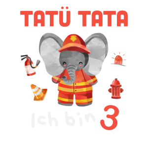 3. Geburtstag Feuerwehr Elefant Geschenk Ich bin 3