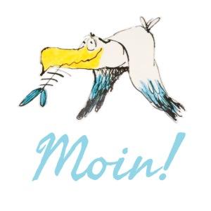 Lustige Moin Möwe von Volker Ernsting
