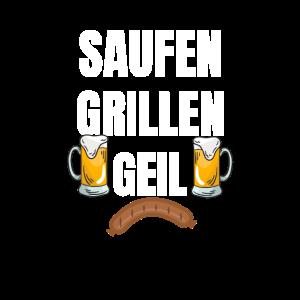 Saufen Grillen Geil Sommer