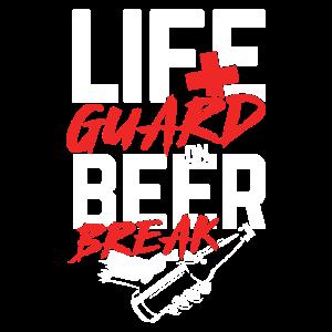 Rettungsschwimmer in der Bierpause | Party