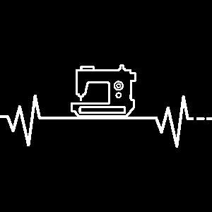 Herzschlag Nähmaschine Nähen Schneiderin Näherin