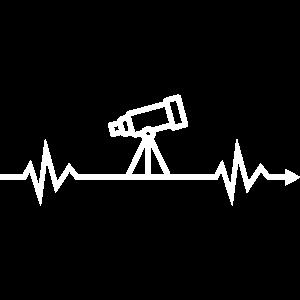 Herzschlag Teleskop Astronomie Astrologie Sterne