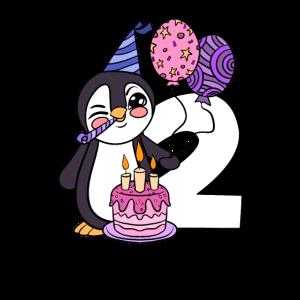 Pinguin 2 Jahre alt 2. Geburtstag Geschenk