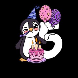 Pinguin 5 Jahre alt 5. Geburtstag Geschenk