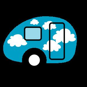 Caravan Wolken Wohnwagen Camping Himmel himmelblau