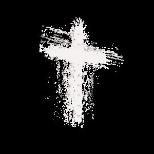 Kreuz gezeichnet weiß