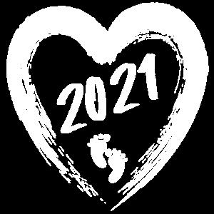 2021 Schwangerschaft Herzabdruck Baby