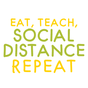 essen lehren soziale Distanz wiederholen