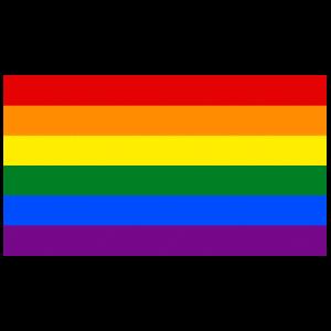 Gay Pride LGBT Flagge Grunge Vintage
