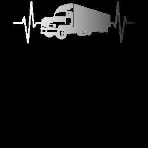 Truck Lastkraftwagen LKW Puls Herzschlag Geschenk
