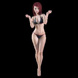 Sexy Frau im Bikini