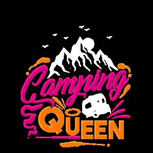 Camper Camping Queen Frauen